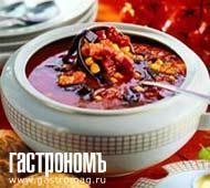 Рецепт Томатный суп с кукурузой и черными грибами
