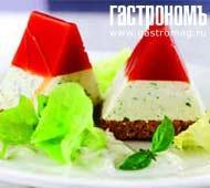 Рецепт Томатно-йогуртовое желе на ржаном хлебе