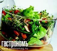 Рецепт Грибной салат с латуком