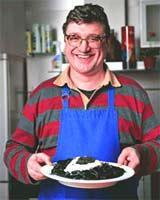 Рецепт Черные спагетти с икрой от Валентина Гнеушева