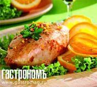 Рецепт Жареная курица с хересом и апельсином