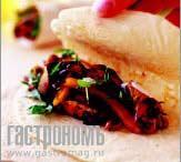Рецепт Запеченная куриная грудка с перцем в лаваше или пите