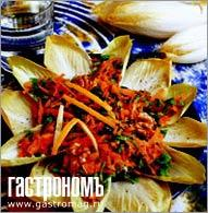 Рецепт Салат из цикория, моркови и кресса водяного