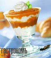 Рецепт Творожный десерт с абрикосами