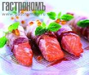 Рецепт Филе семги в беконе