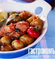 Рецепт Кунели стифадо (рагу из кролика)