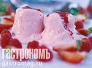 Рецепт Глазированный мусс с клубникой