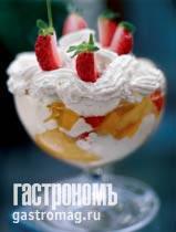 """Рецепт """"Зуппа инглезе"""" с мороженым и пряными фруктами"""