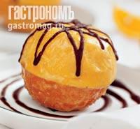 Рецепт Карамелизированные апельсины с сорбетом