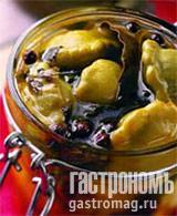 Рецепт Соленые мини-патиссоны, баклажаны и кабачки
