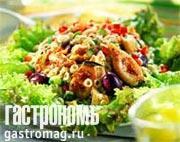 Рецепт Салат из огурцов, трески и орзо