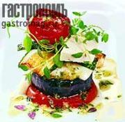 Рецепт Овощная башня с моццареллой