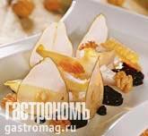 Рецепт Домашний сыр с чатни из черники, грецкими орехами и листьями цикория