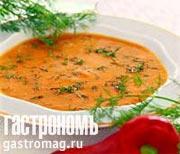 Рецепт Суп из красного перца с укропом