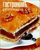 Рецепт Пирог с бананово-ореховой начинкой из слоеного теста