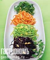 Рецепт Цветные спагетти из овощей