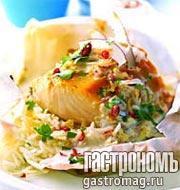 Рецепт Запеканка с рисом и треской под кокосовым соусом