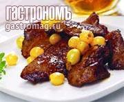 Рецепт Утиная печень с виноградным соусом