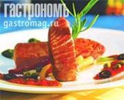 "Рецепт Филе тунца на гриле с соусом ""алла пицциолла"""