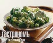 Рецепт Цветная капуста в сливочном соусе