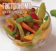Рецепт Салат из персиков с помидорами и заправкой из мяты