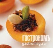 Рецепт Абрикосы, фаршированные кремом из сухофруктов