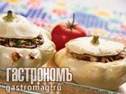 Рецепт Патиссоны, фаршированные печенью индейки