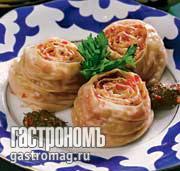 Рецепт Ханим (рулет с овощами)