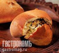 Рецепт Пирожки с квашеной капустой и грибами