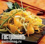 Рецепт Салат с апельсинами