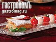 Рецепт Торт Наполеон с базиликом и помидорами конфи в специях