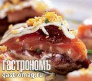 Рецепт Сэндвич на тему салата Мимоза