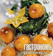 Рецепт Датский глазированный картофель со шпинатом