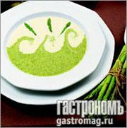 Рецепт Крем-суп из зеленой и белой спаржи