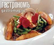 Рецепт Теплый салат с грушей и зеленой фасолью