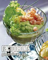 Рецепт Крем из авокадо и яблок с креветками