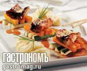 Рецепт Угорь, запеченный в соевом соусе, с овощами и картофельным пюре