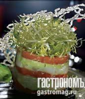 Рецепт Этажер из морского гребешка с гуакамоле и крабами
