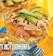 Рецепт Салат из авокадо и манго