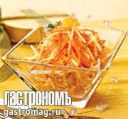 Рецепт Салат из моркови с вялеными ананасами
