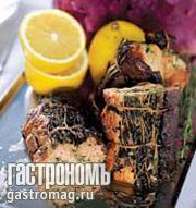Рецепт Рулет из лосося с сыром и травами