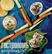 Рецепт Пасты-намазки из овощей, творога и брынзы
