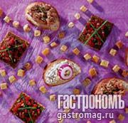 Рецепт Пасты-намазки с мясными продуктами и потрошками