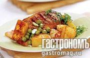 Рецепт Утка с зеленым горошком и фасолью