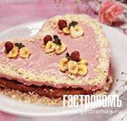 Рецепт Вишневое сердце с банановыми чипсами