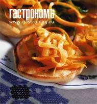 Рецепт Блины с лентами из овощей