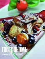 Рецепт Фламбе из фуа-гра со свежими ягодами