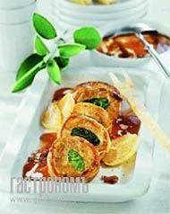 Рецепт Филе телятины на подложке из белых грибов