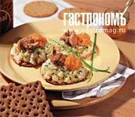 Рецепт Хлебцы с печенью трески и икрой
