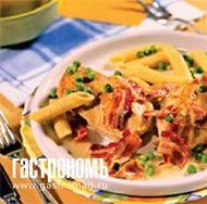 Рецепт Курица с пенне в сливочном соусе